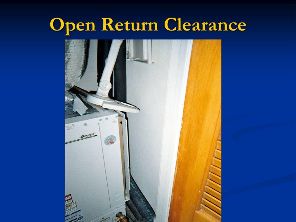 Open Return Clearance
