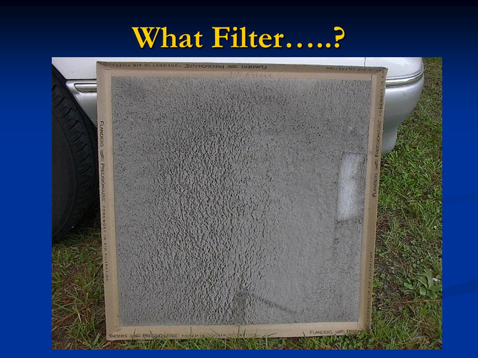 What Filter…..