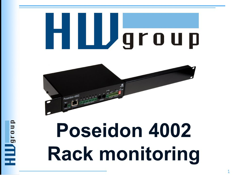 Poseidon 4002 Rack monitoring 1