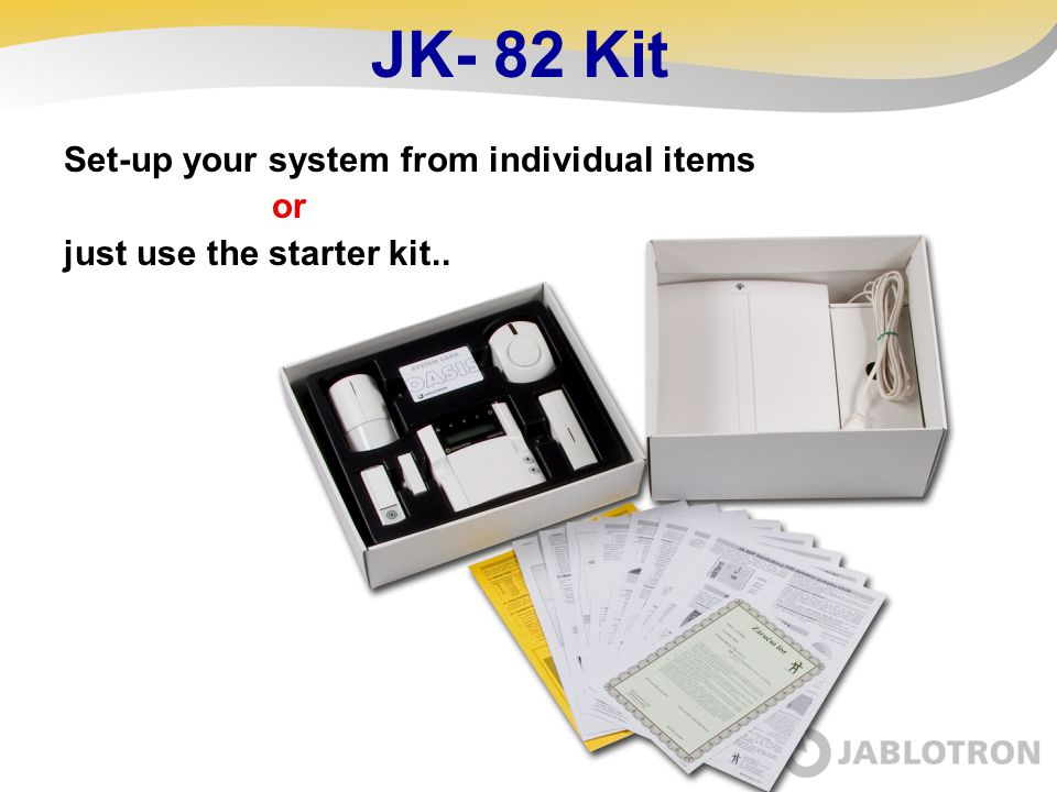 JK- 82 Kit Set-up your system from individual items or just use the starter kit..