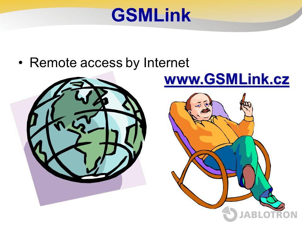 GSMLink Remote access by Internet www.GSMLink.cz