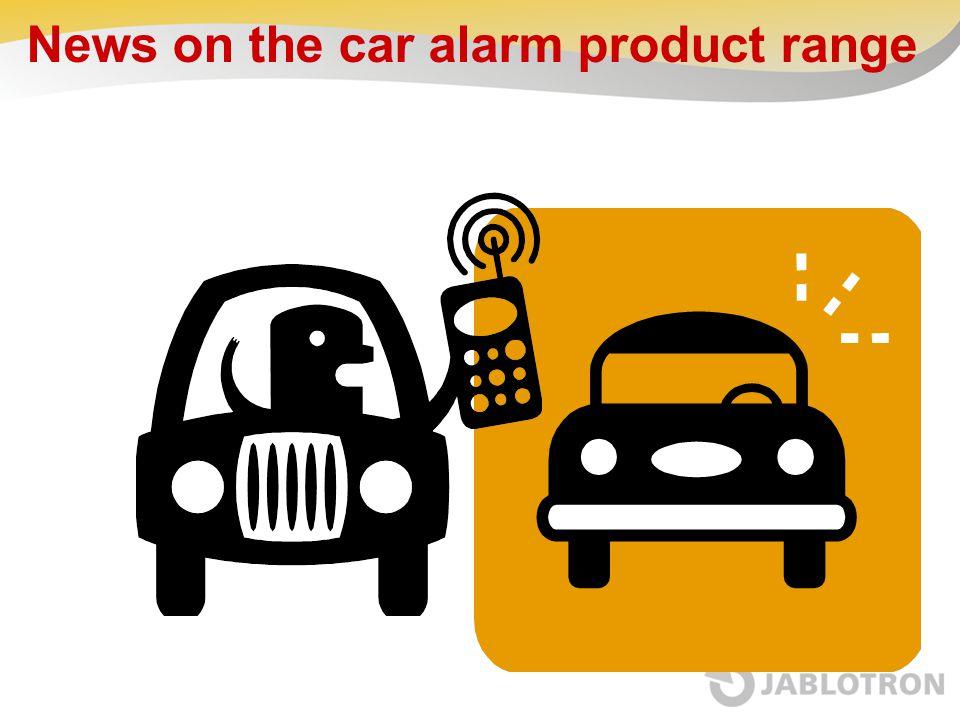 News on the car alarm product range