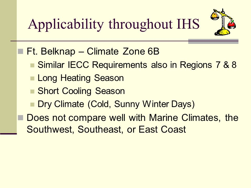 Applicability throughout IHS Ft.