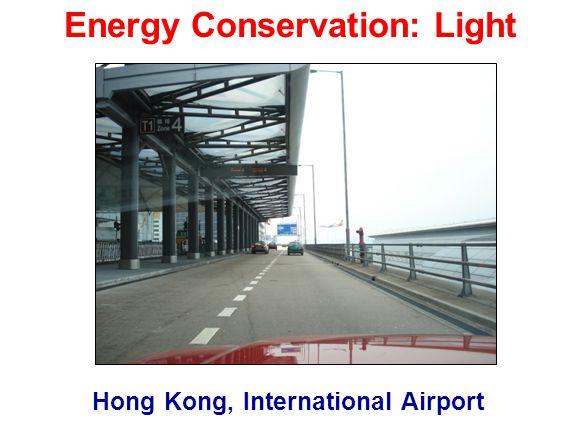 Hong Kong, International Airport Energy Conservation: Light
