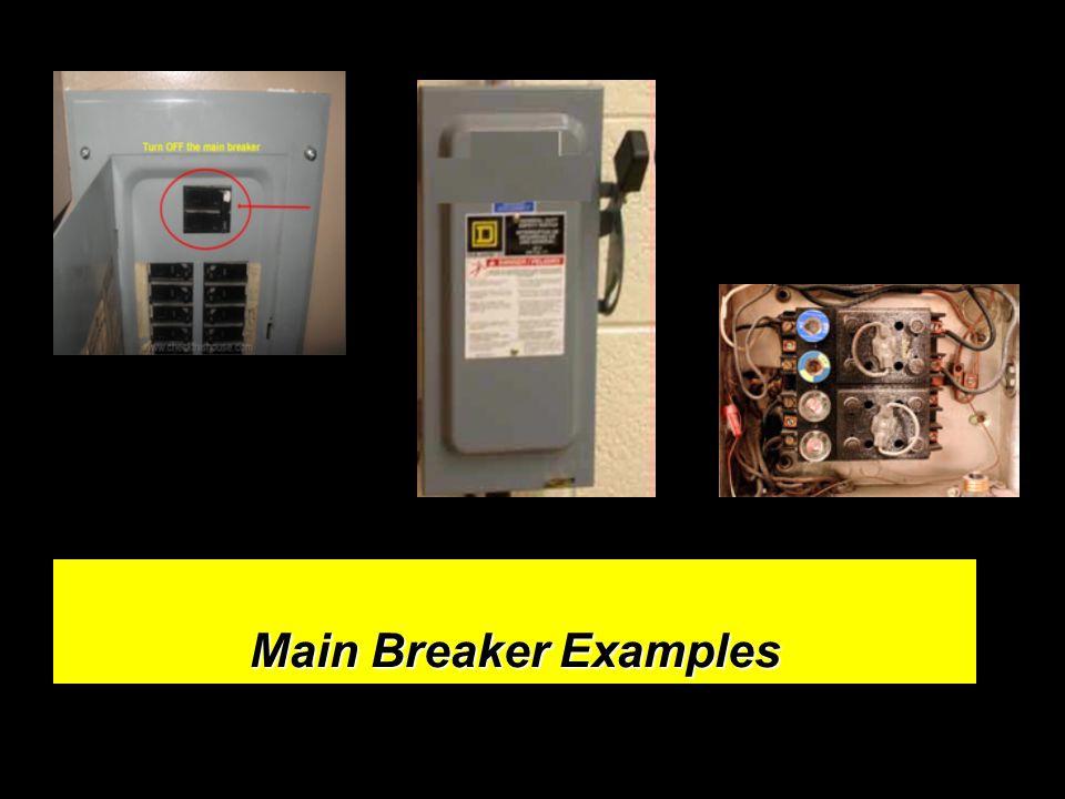 Main Breaker Examples