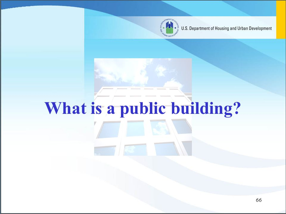 66 What is a public building?