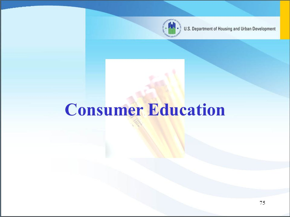 75 Consumer Education