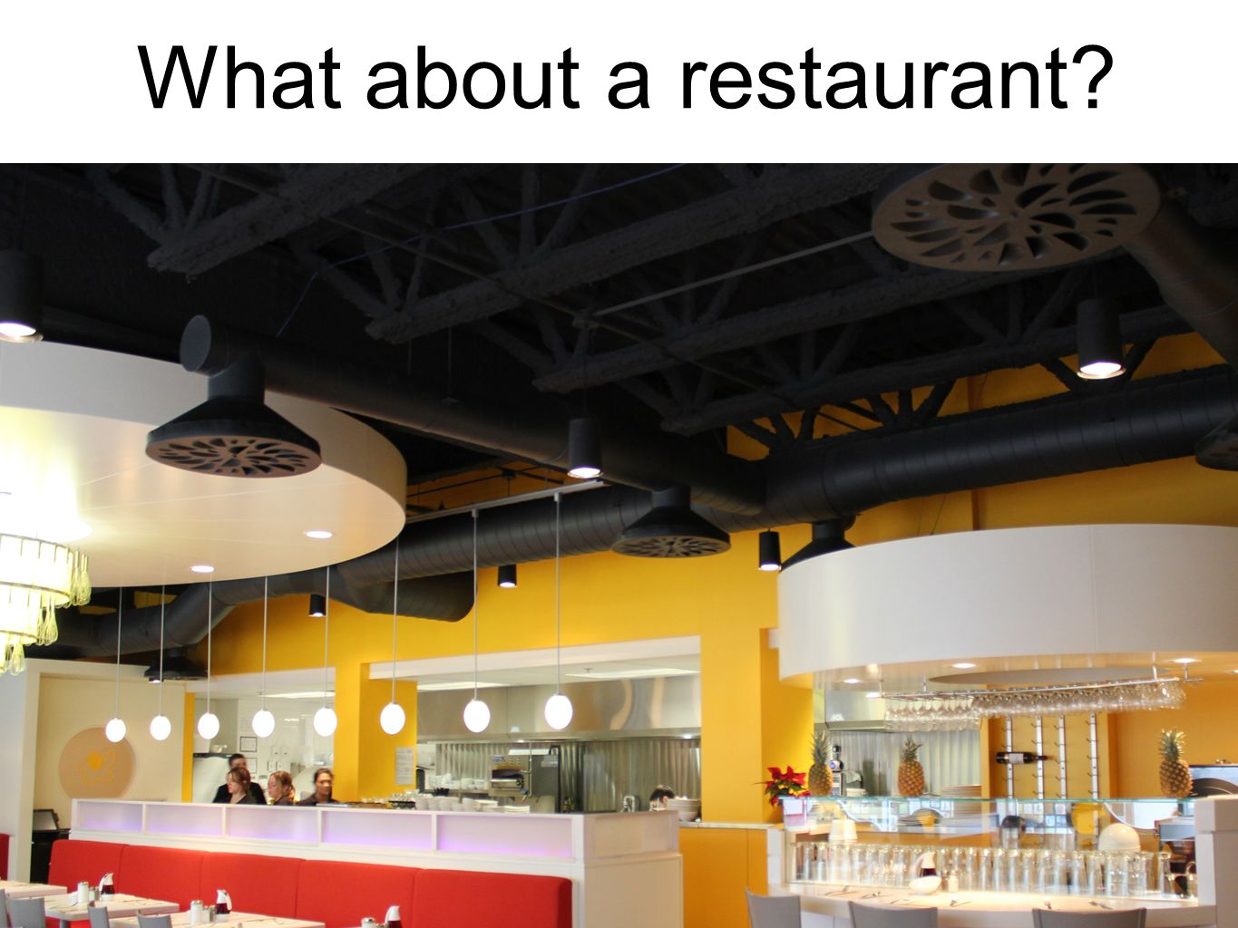 What about a restaurant