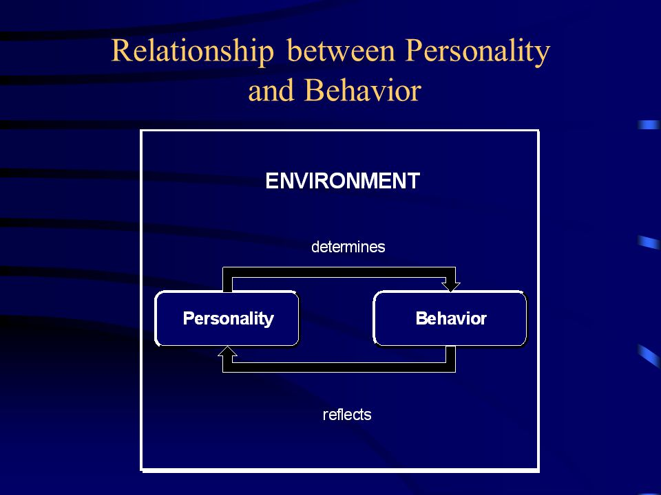 Relationship between Personality and Behavior