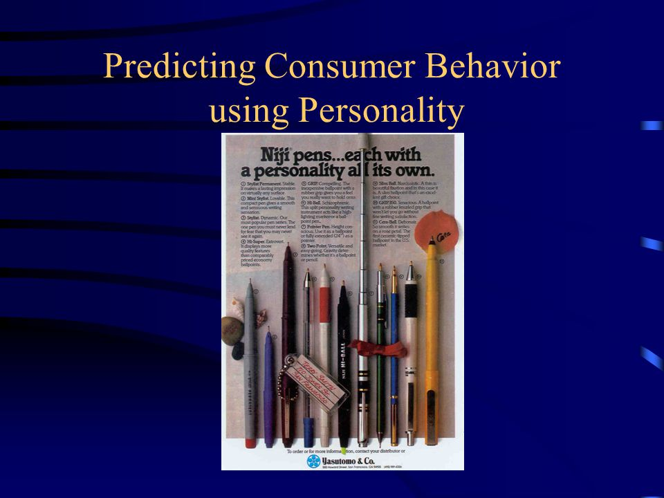 Marketing's Interest in Personality