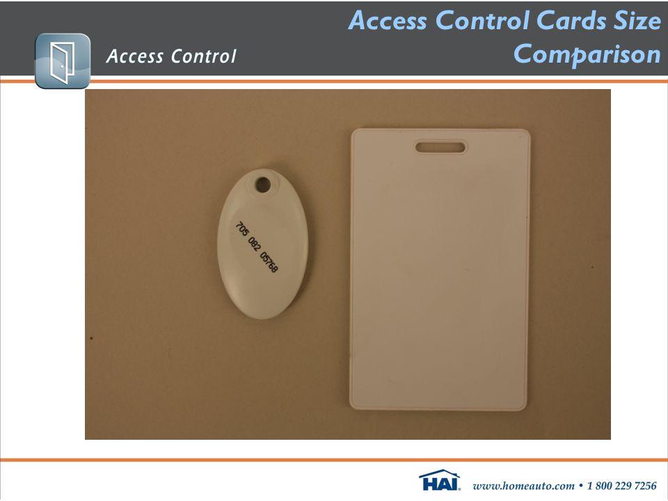 Access Control Cards Size Comparison