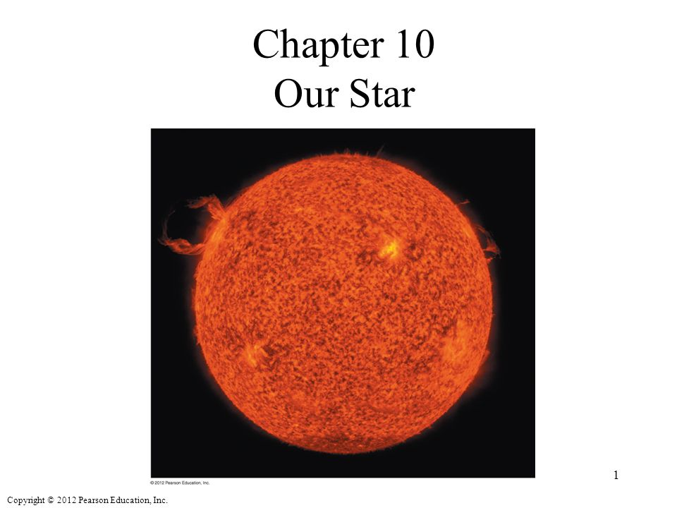 Copyright © 2012 Pearson Education, Inc. Chapter 10 Our Star 1