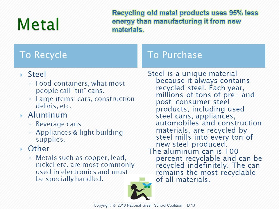 To Recycle To Purchase  Glass containers- sauces, peanut butters, beverages, etc.