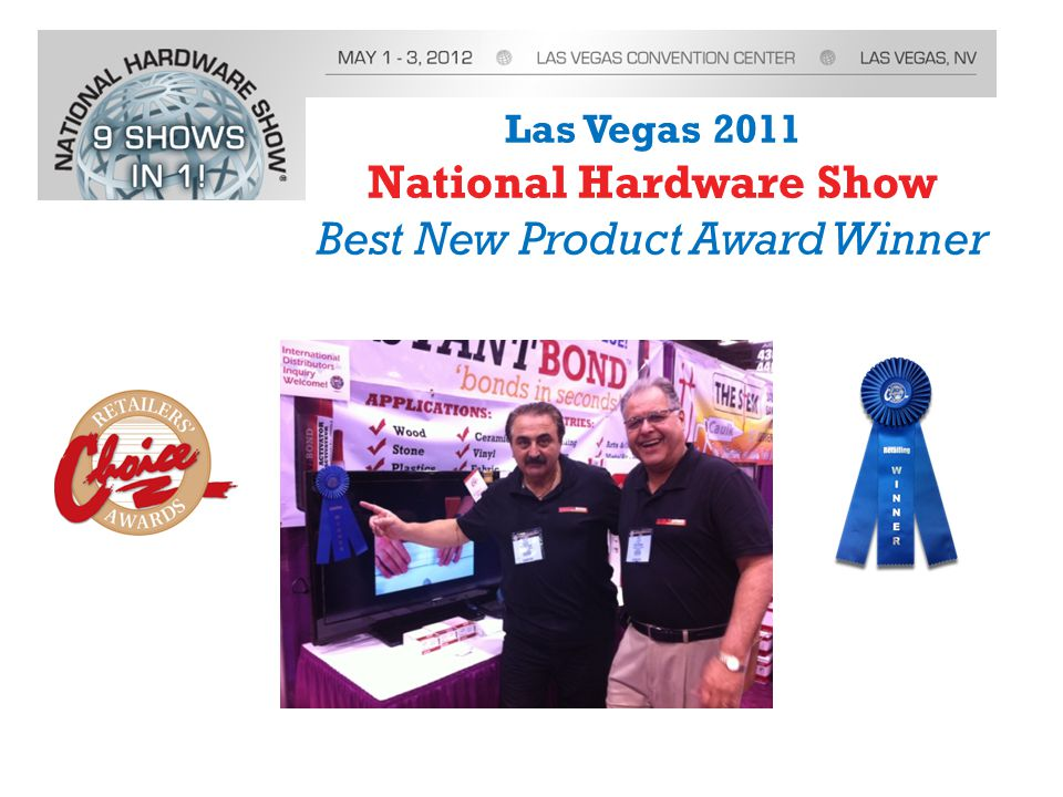 Las Vegas 2011 National Hardware Show Best New Product Award Winner