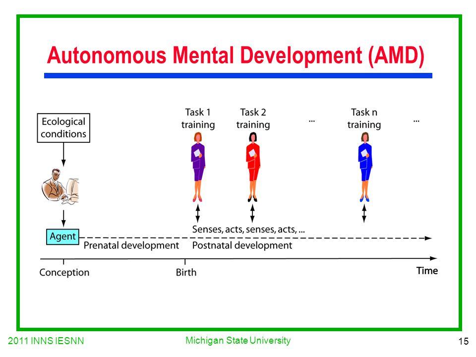 2011 INNS IESNN 15 Michigan State University Autonomous Mental Development (AMD)