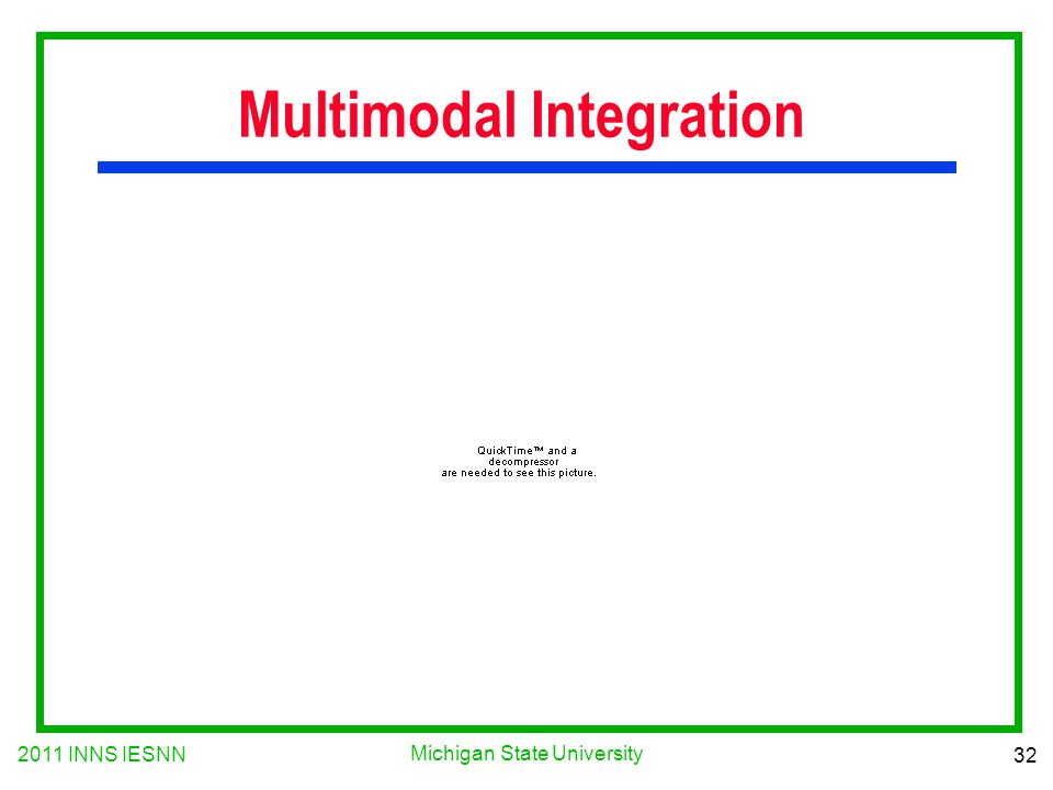 2011 INNS IESNN 32 Michigan State University Multimodal Integration