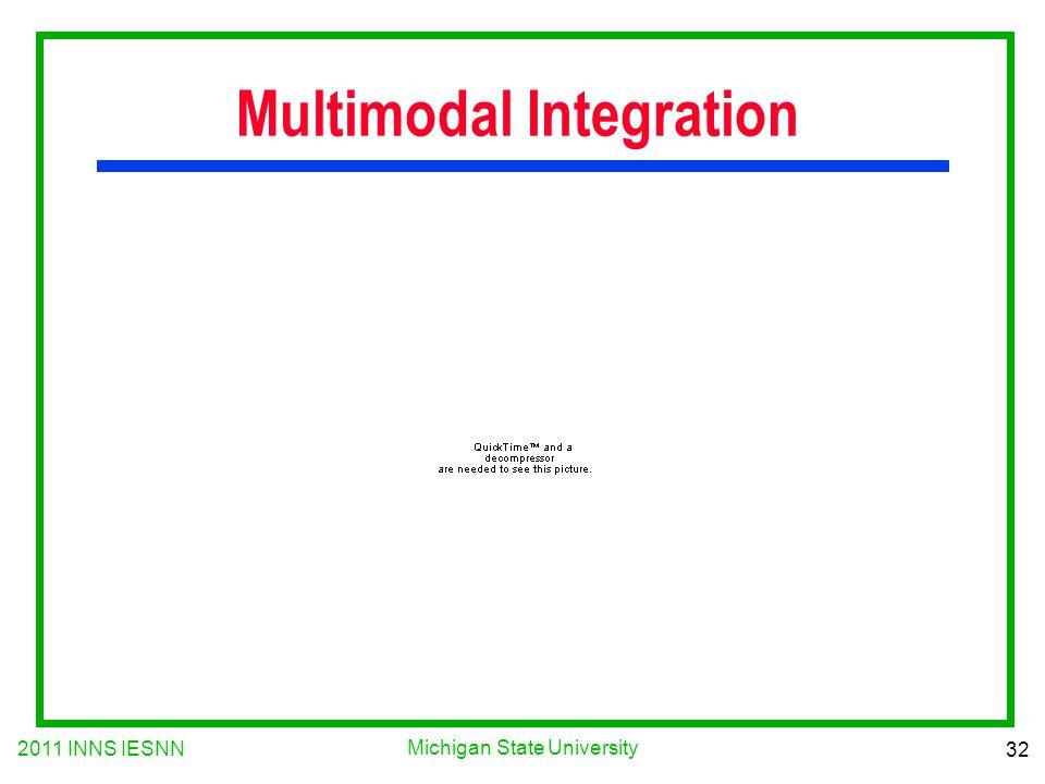 2011 INNS IESNN 32 Michigan State University Multimodal Integration