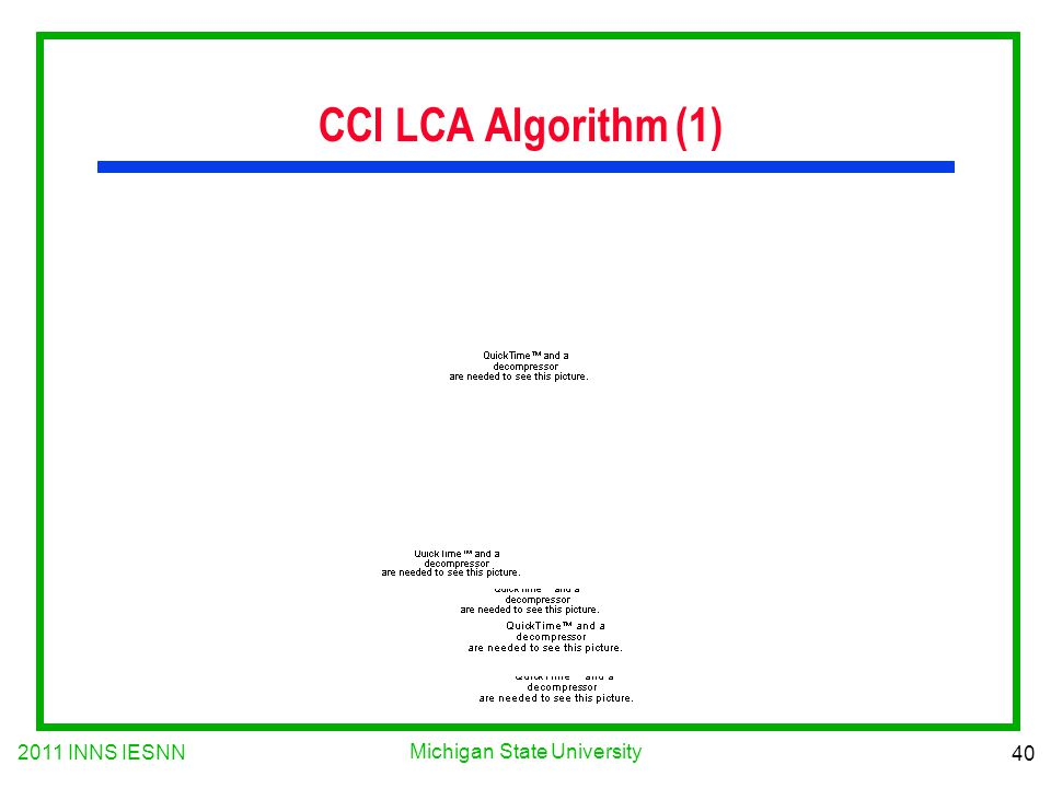 2011 INNS IESNN 40 Michigan State University CCI LCA Algorithm (1)