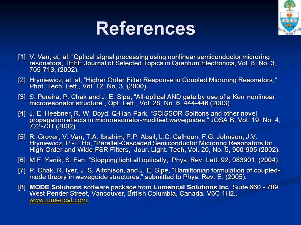 References [1] V. Van, et.