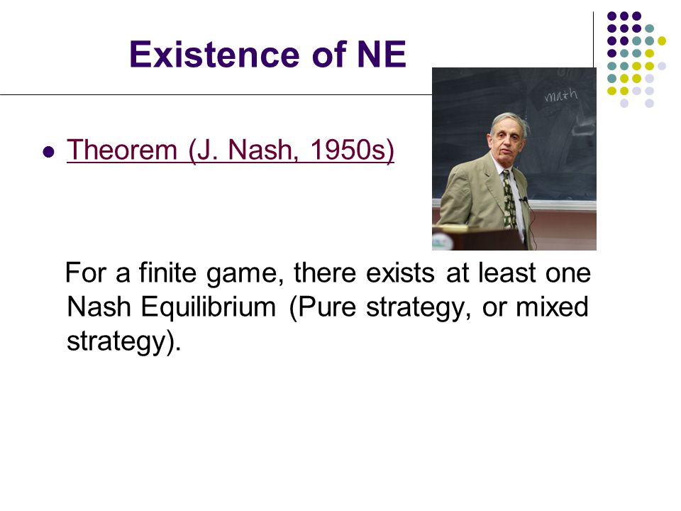 Existence of NE Theorem (J.