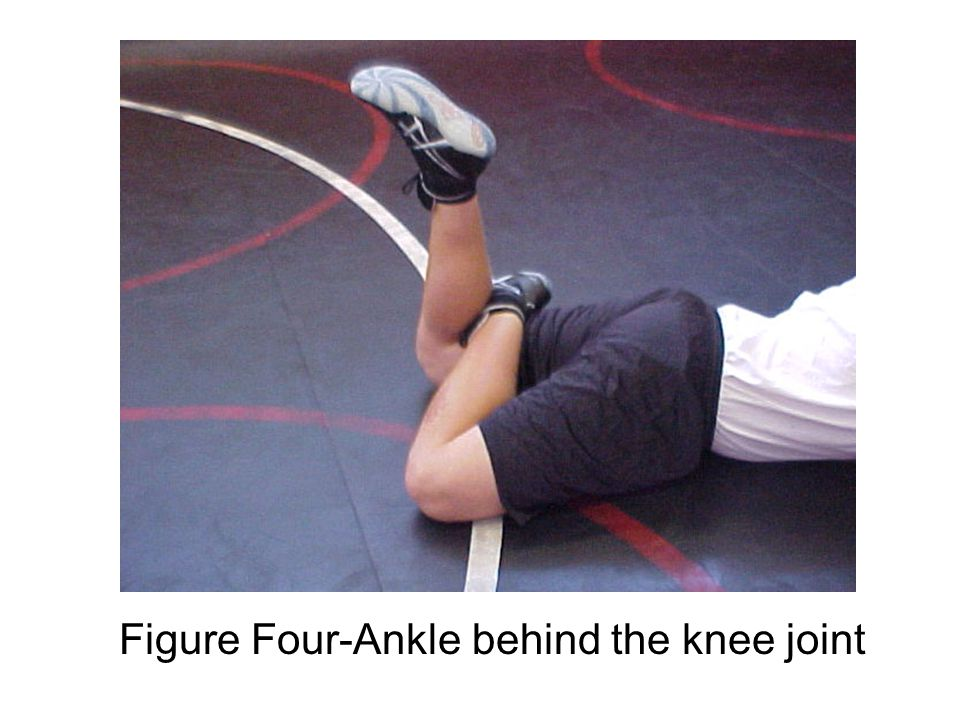 Scissors-Ankle off the knee joint and crossed over the opposite leg