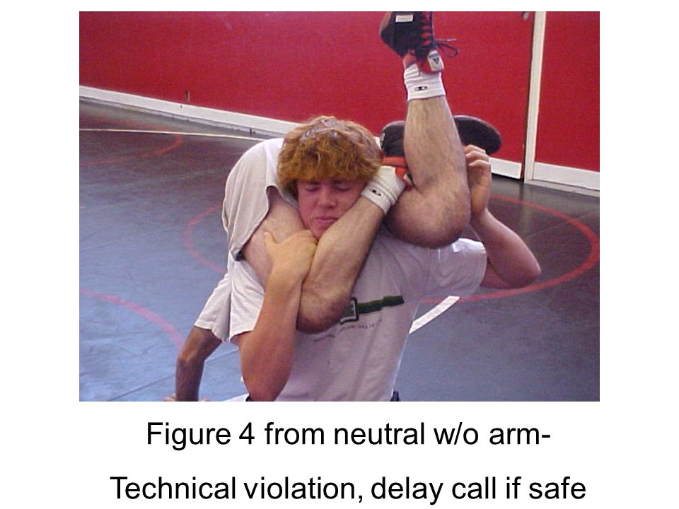 Figure 4 from neutral w/ arm- Technical violation, delay call if safe