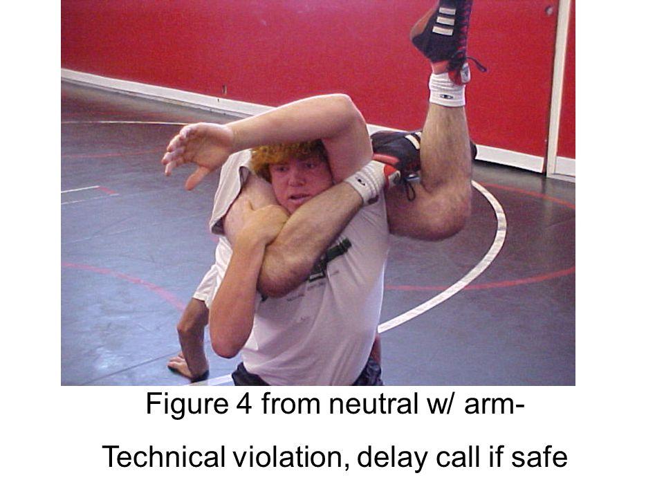 Figure 4 around body- Illegal move, stop immediately