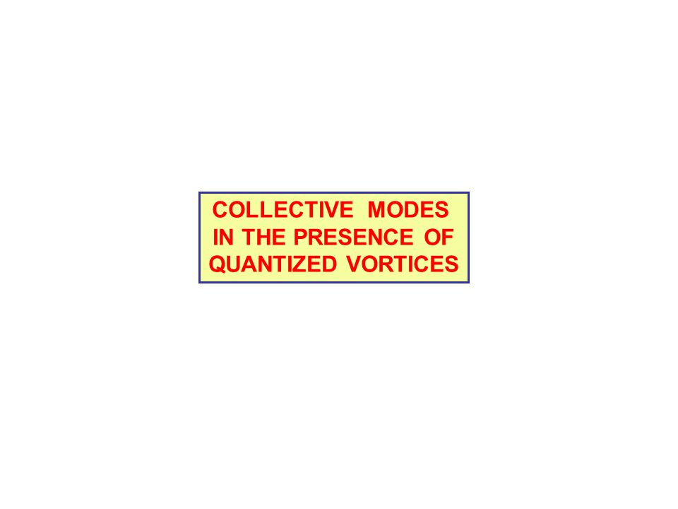 COLLECTIVE MODES IN THE PRESENCE OF QUANTIZED VORTICES