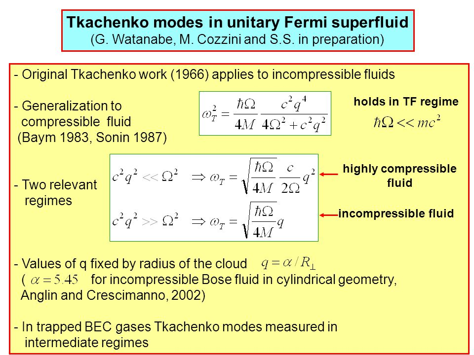 Tkachenko modes in unitary Fermi superfluid (G. Watanabe, M.
