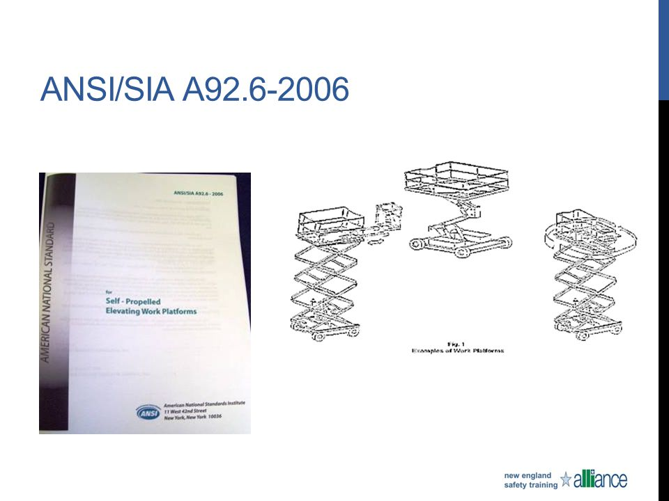 ANSI/SIA A92.6-2006
