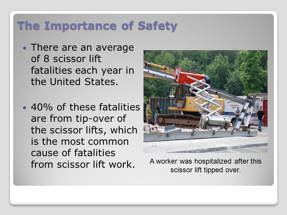 Top 10 Causes of Fatalities 1.Operating on an uneven surface.