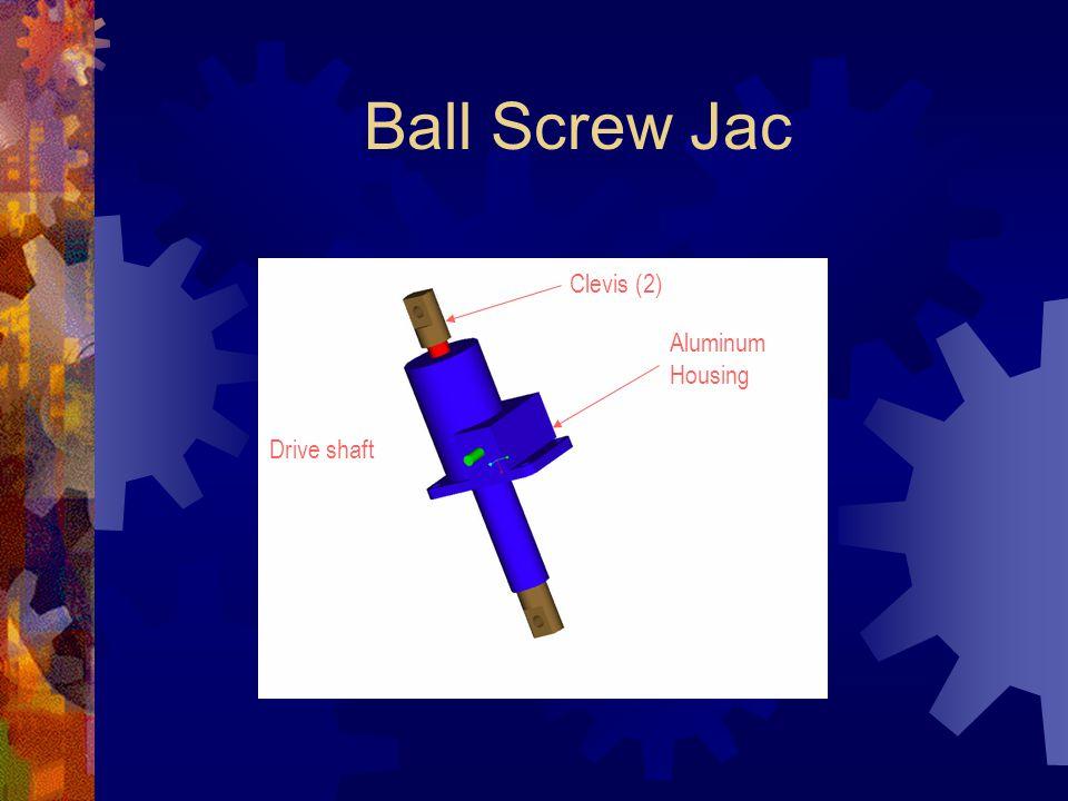 Ball Screw Jac Clevis (2) Drive shaft Aluminum Housing