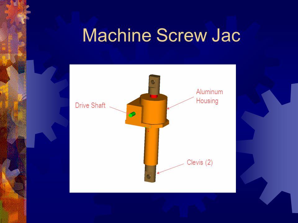 Machine Screw Jac Aluminum Housing Drive Shaft Clevis (2)