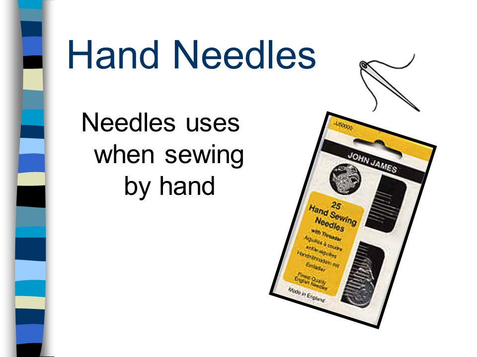 Hand Needles Needles uses when sewing by hand