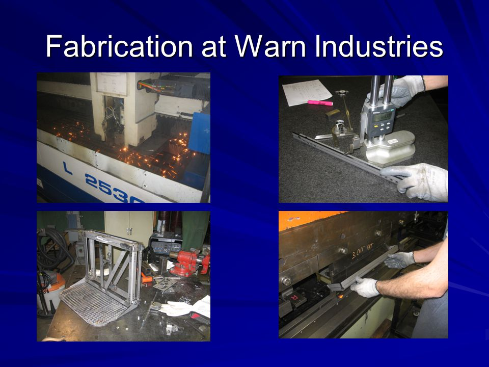 Fabrication at Warn Industries