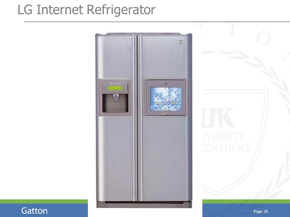 Page 35 LG Internet Refrigerator