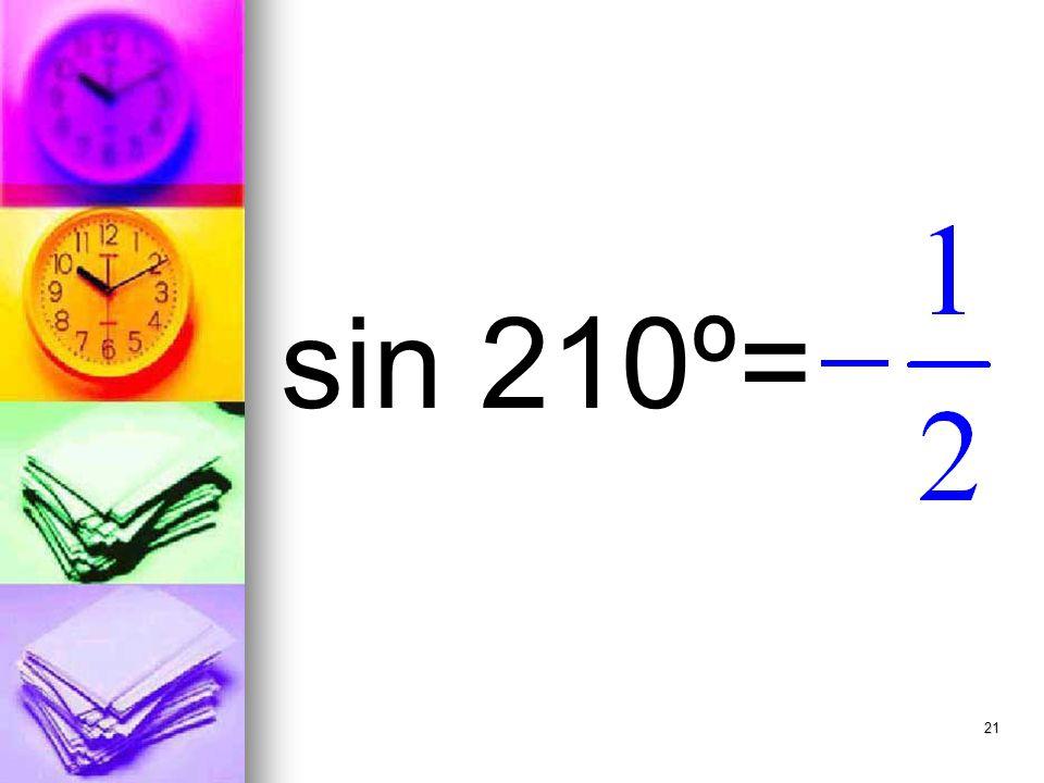 21 sin 210º=
