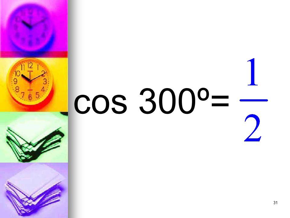 31 cos 300º=