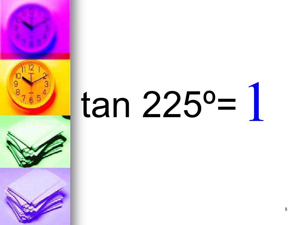 8 tan 225º=