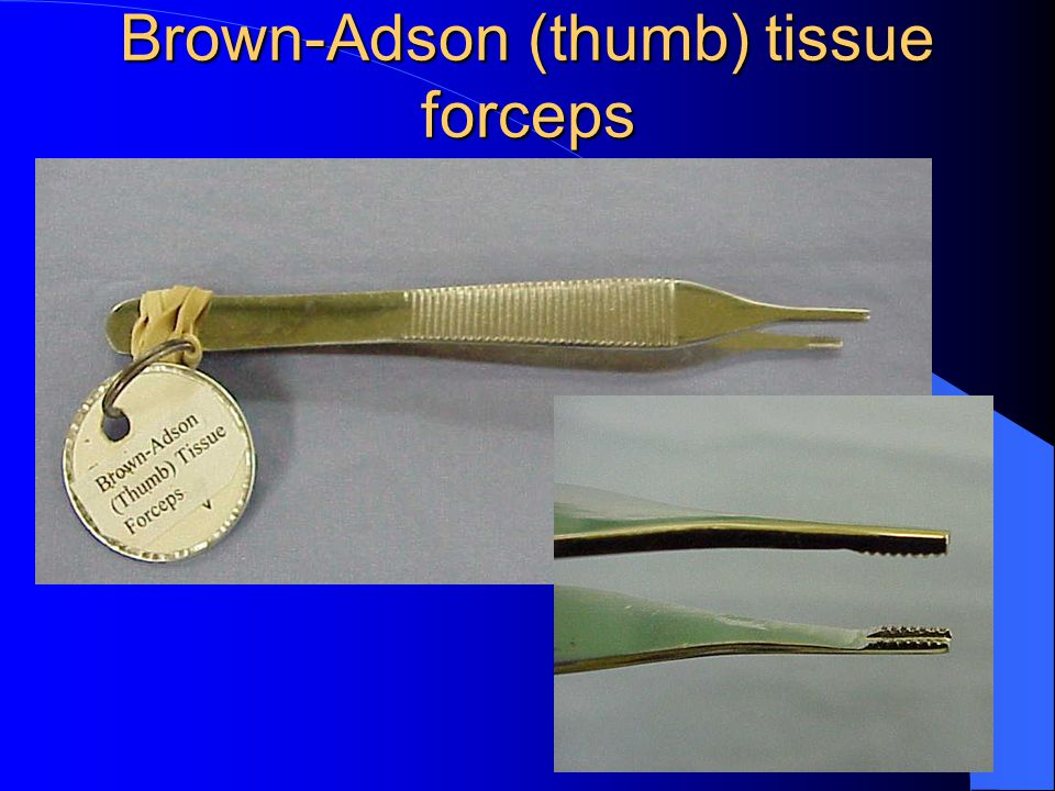 Brown-Adson (thumb) tissue forceps