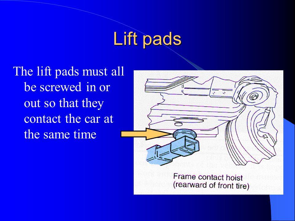 Correct lift points
