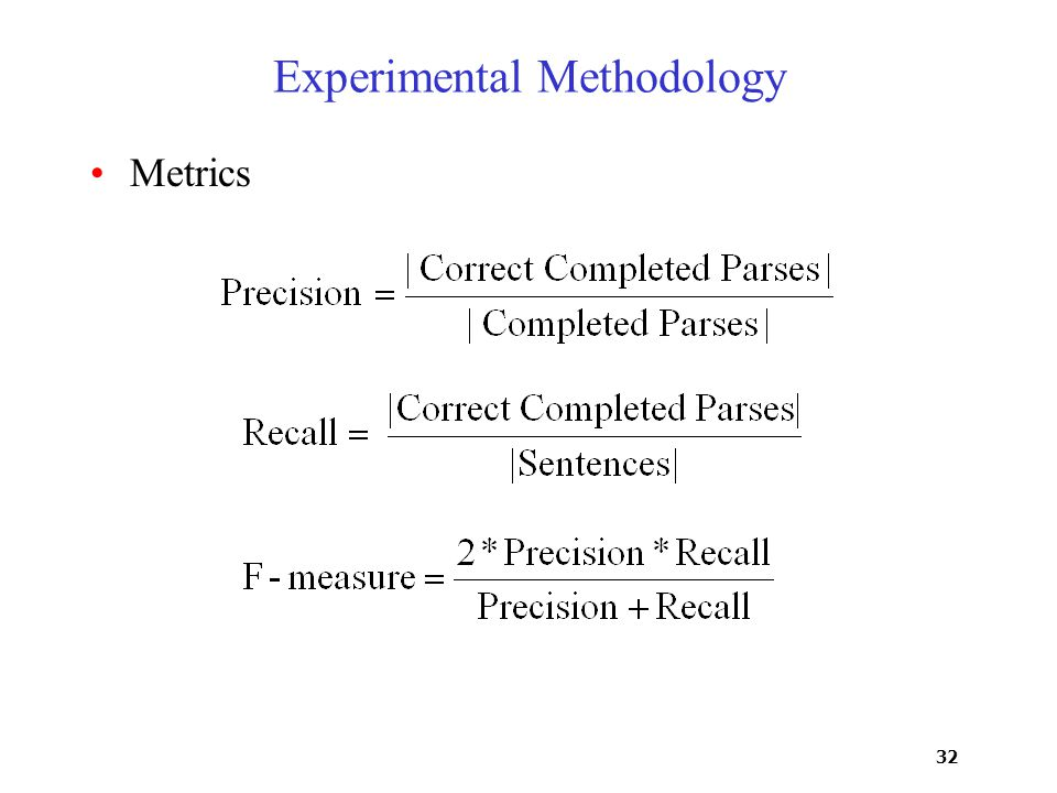 32 Experimental Methodology Metrics