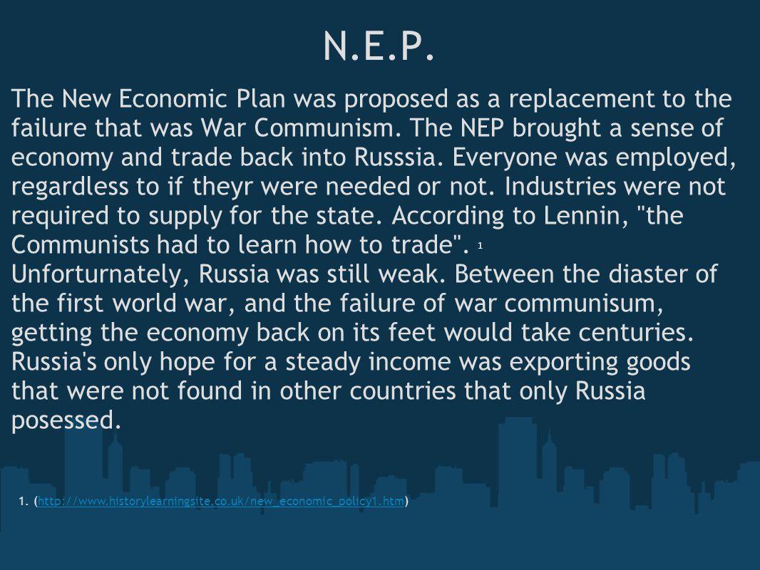 N.E.P Troubles....