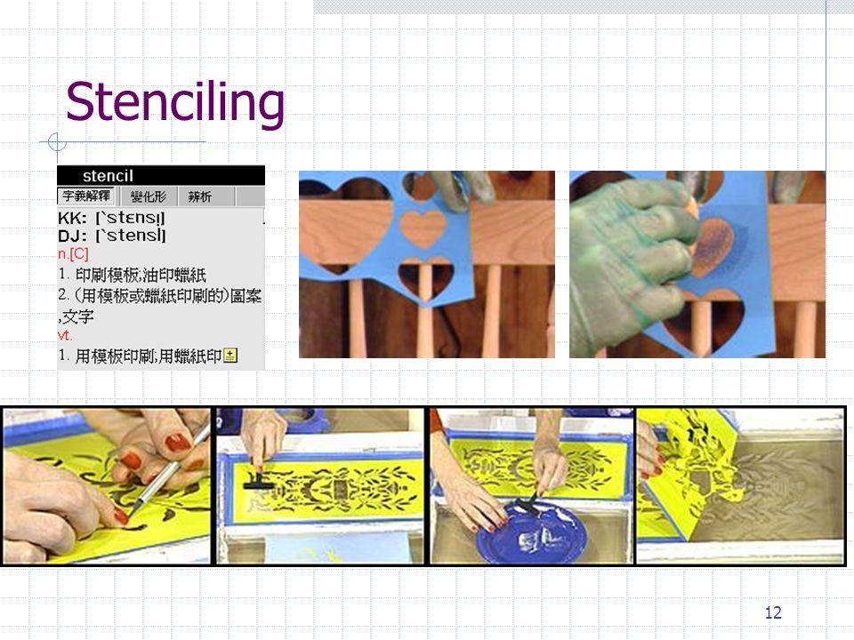 12 Stenciling