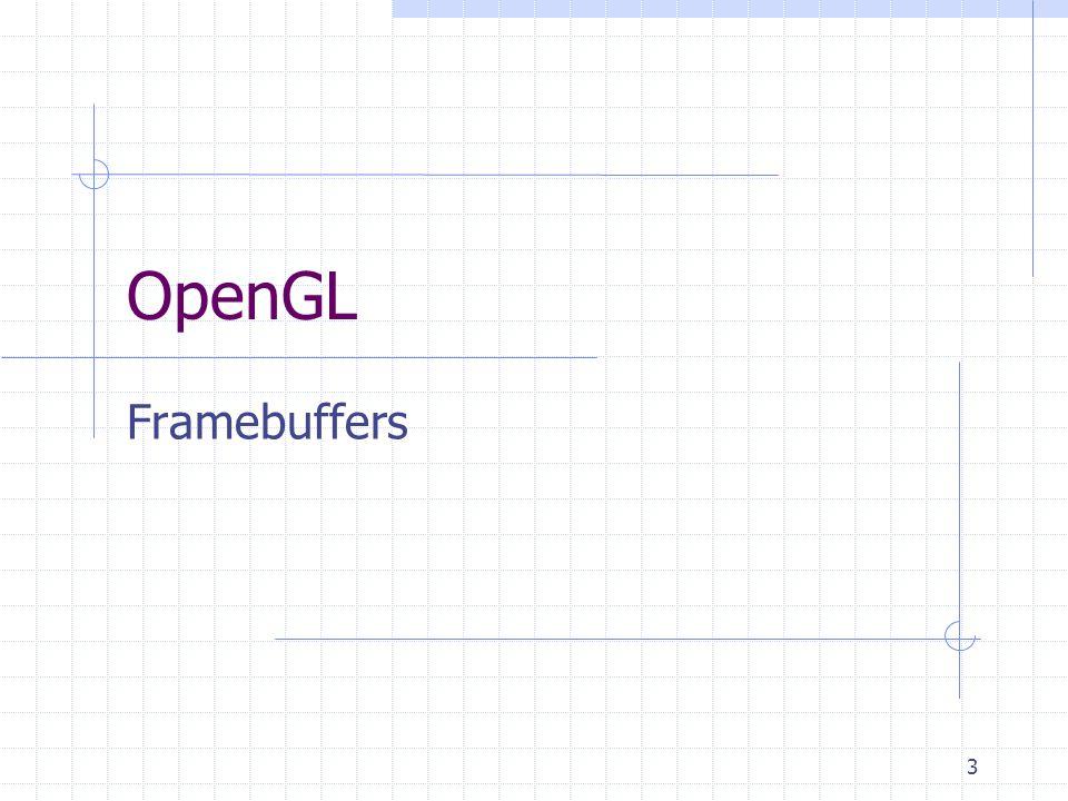 3 OpenGL Framebuffers