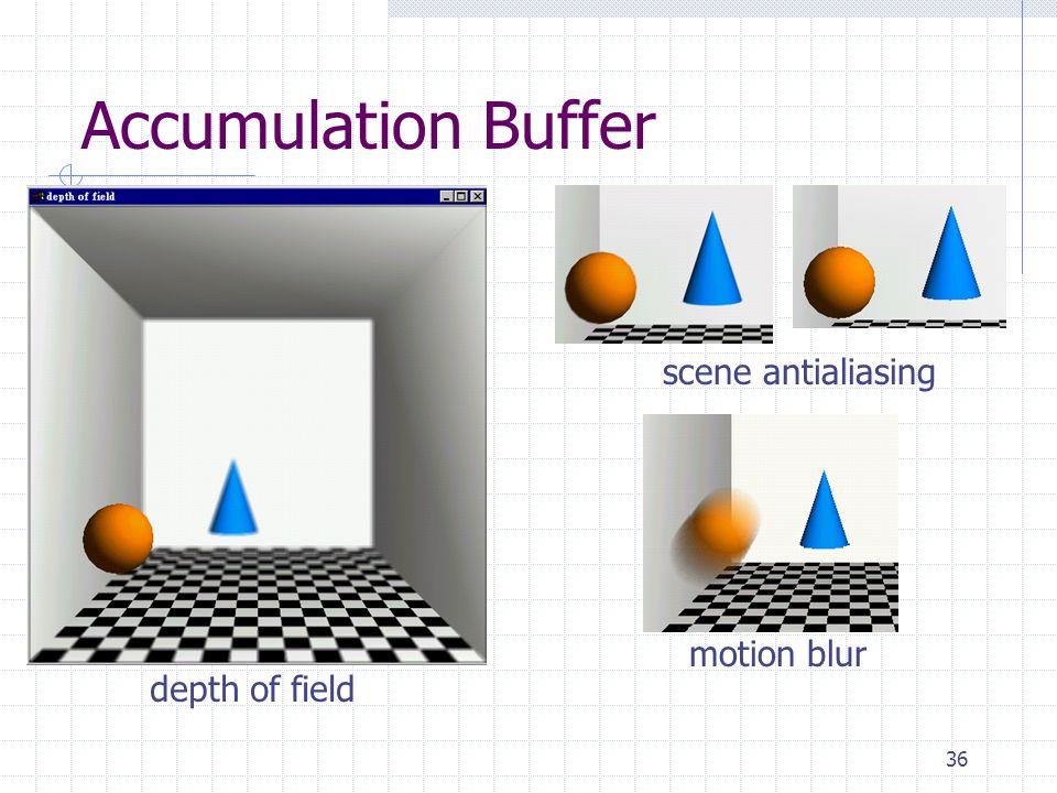 36 Accumulation Buffer depth of field scene antialiasing motion blur