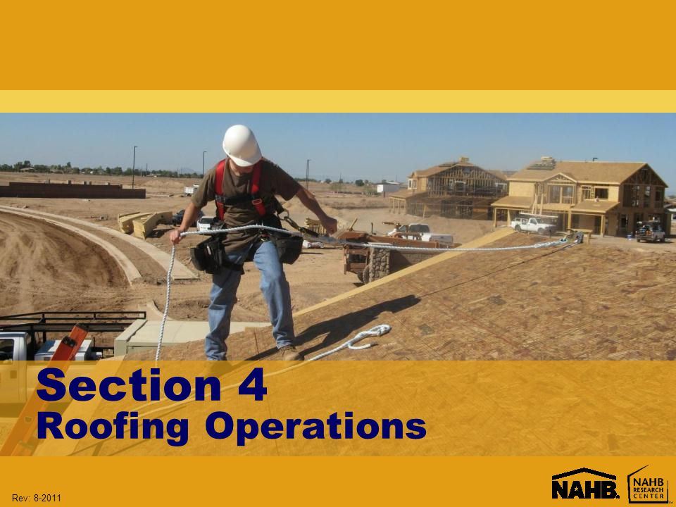 Rev: Section 4 Roofing Operations
