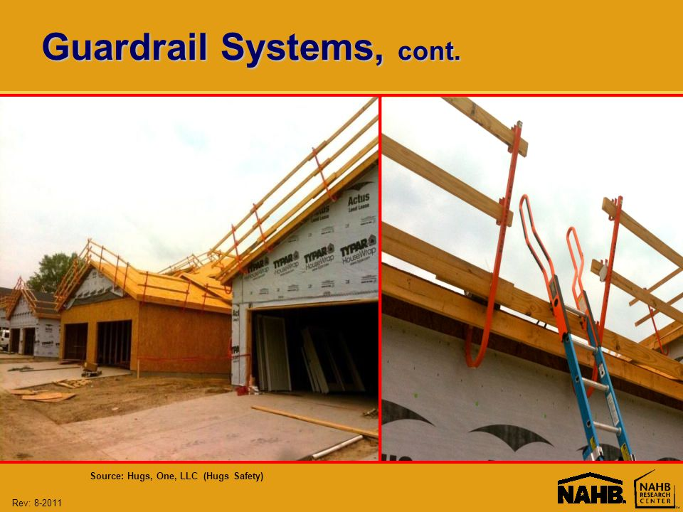 Rev: Guardrail Systems, cont. Source: Hugs, One, LLC (Hugs Safety)