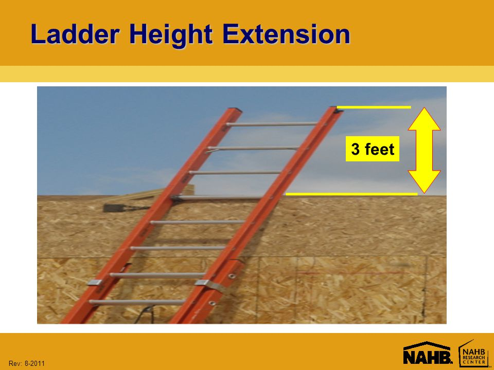 Rev: 8-2011 Ladder Height Extension 3 feet