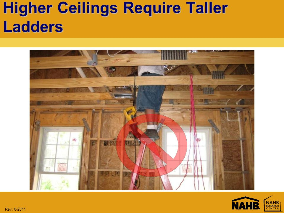 Rev: Higher Ceilings Require Taller Ladders